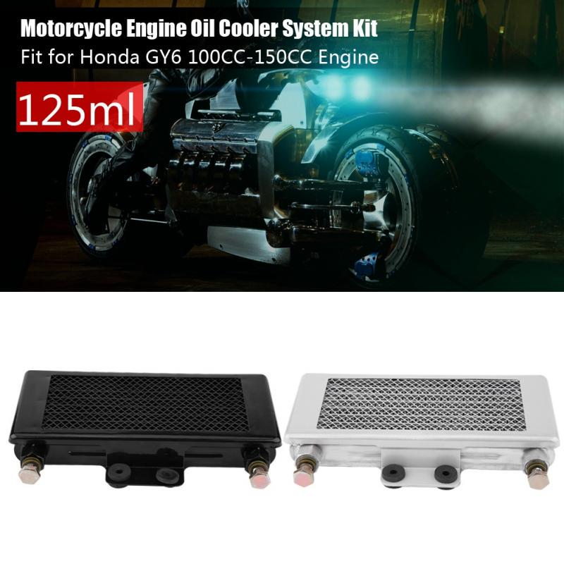 Upgraded 125ml Engine Oil Cooler Oil Cooling System Kit for Honda GY6  100CC-150CC