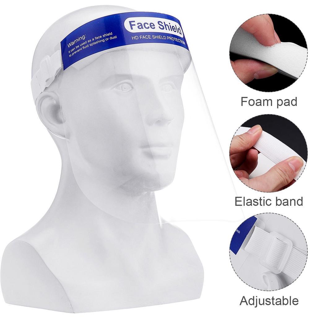 5Pcs Clear Safety Full Face Shield Visor Cap Helmet Lens Anti-UV Protector