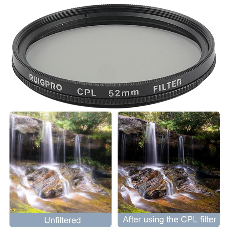 for GoPro Hero 7//6 //5 Professional 52mm UV Lens Filter with Filter Adapter Ring /& Lens Cap Durable