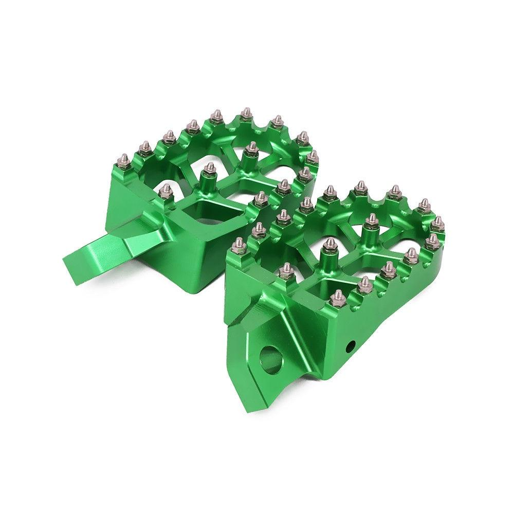 Green Aluminum CNC Rear Brake Foot Pedal Lever Motorcycle Kawasaki KX250F KXF250 2004-2016