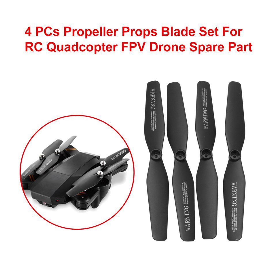 RC Drone Parts 8 Propellers Blade+4 Bumper Cover Guards Set for VISUO XS809W