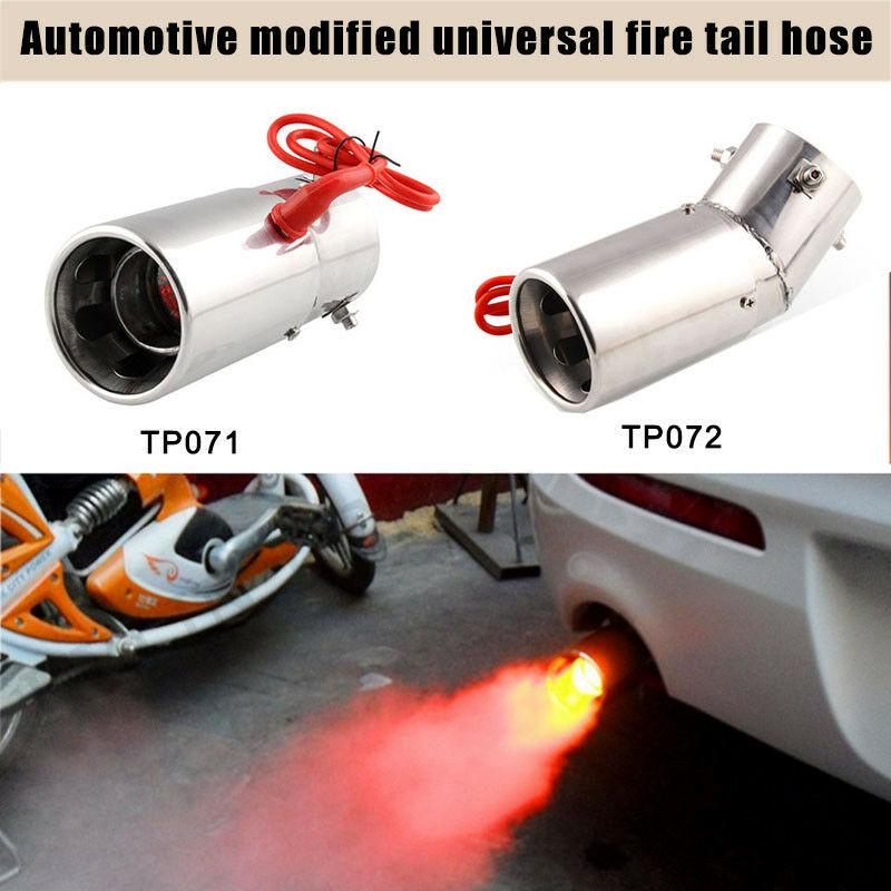 Car Exhaust Muffler Car Modification Accessories Universal Stainless Steel Removable Muffler Silencer 3.5 inch