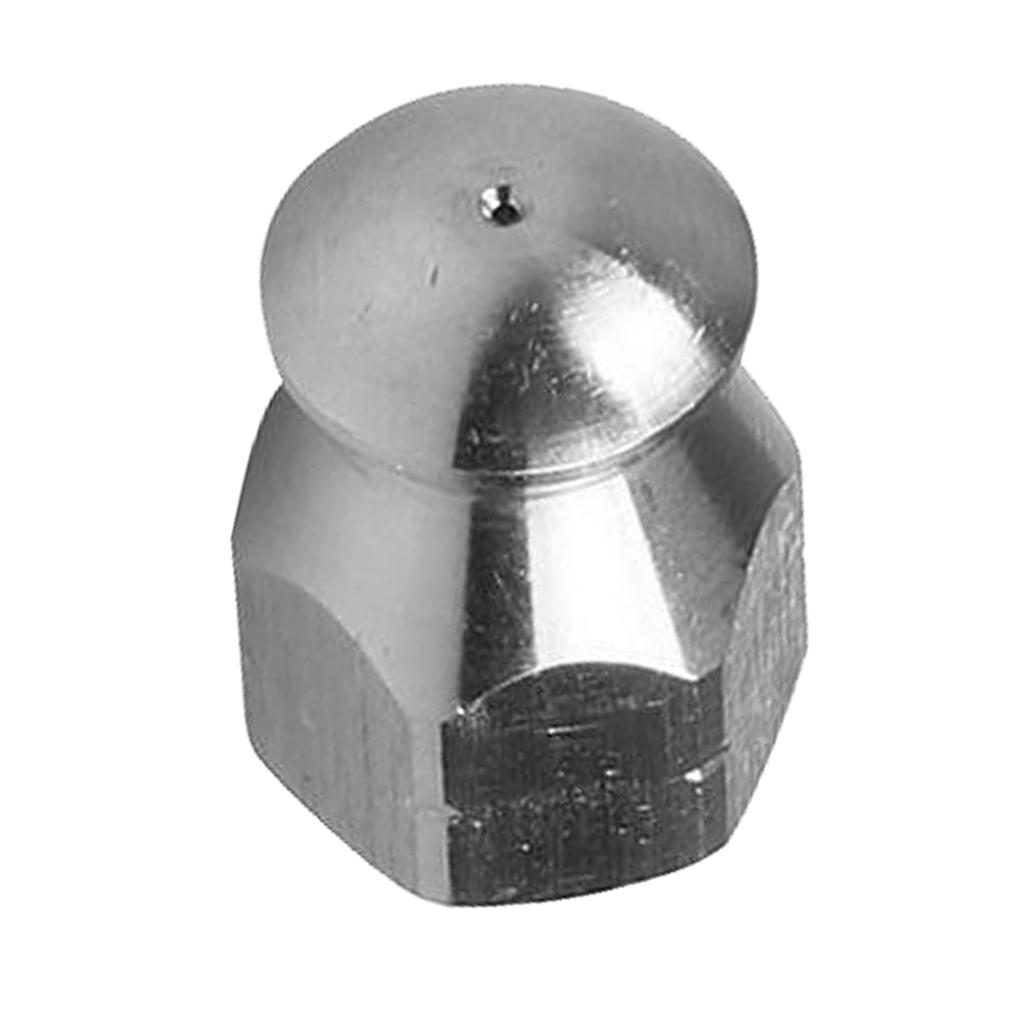 Stainless Steel Pressure Washer Sewer Jet Nozzle G 1//4/'/' Female 3 Hole Back