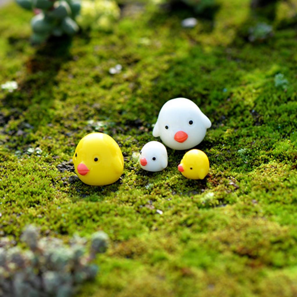 20pcs Resin Mini Ducks Figurines Micro Landscape DIY Fairy Garden Accessories