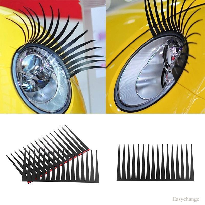 Cute Beauty Eyelashes Car Styling Decal Vehicle Headlight Decorative