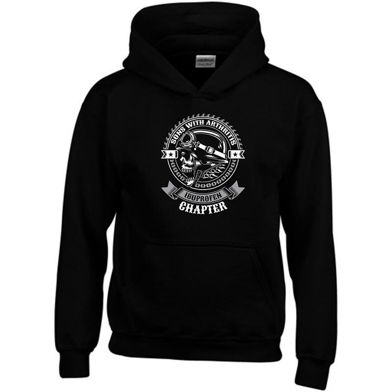 Sons With Arthritis Hoodie Ibuprofen Skull Bike Club Outlaw SOA Gift Sweatshirt