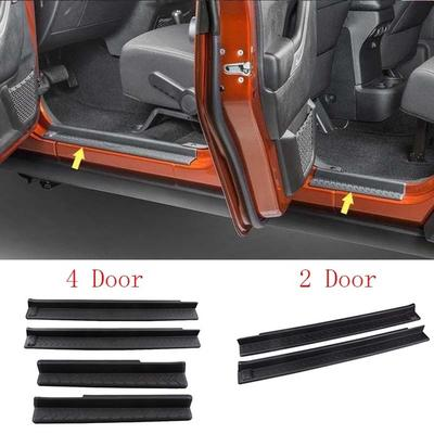 4pcs Car Inside Door Sill Scuff Plate Trim For Bmw 2 Series Active Tourer 5 And 7 Seats F45 F46 218i 2015-2017 Car Styling Interior Mouldings Interior Accessories