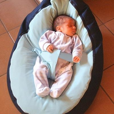 Awesome Canvas Pink Vine Baby Infant Bean Bag Snuggle Bed Portable Uwap Interior Chair Design Uwaporg