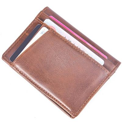 Vintage Magic Credit Card Holder Coin Money Clip Billfold Faux Leather Case CB