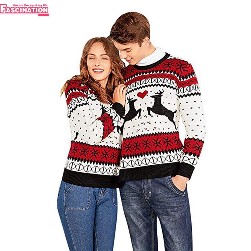 prețuri grozave vastă selecție ajunge ieftin Noutatea Craciun cupluri animale pulover imprimare două persoane ...
