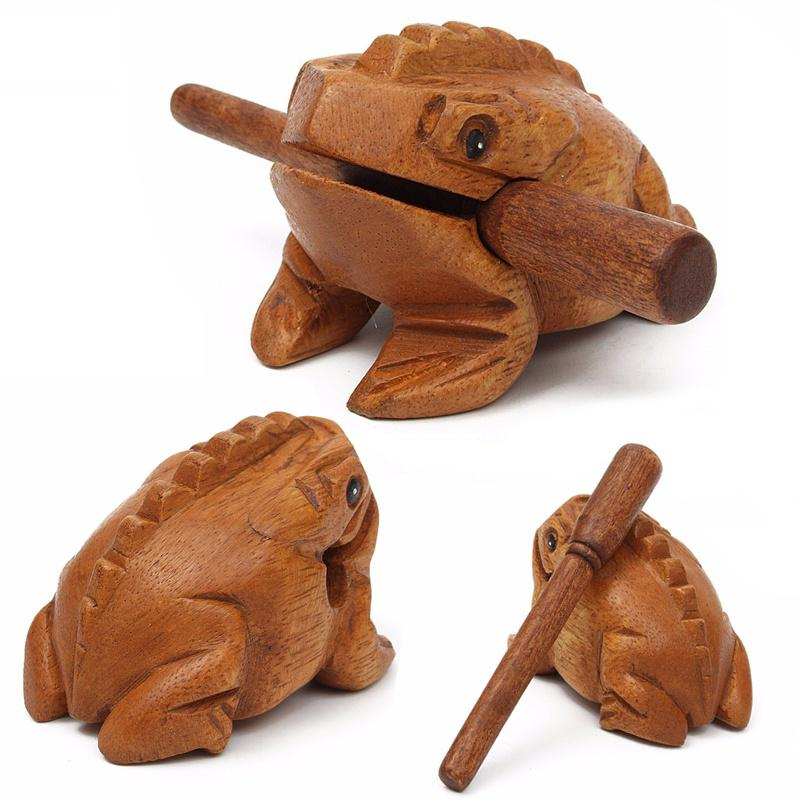Thailand Traditional Craft Wooden Lucky Frog Croaking Musical ...