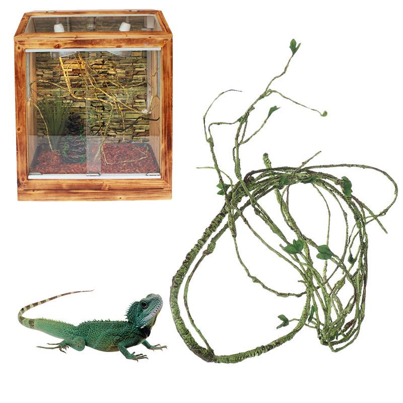 Simulation Plant Rattan Simulation Vine No Smell Reptile Habitat Decor Reptile Habitat Decor Lizard Chameleon Reptile Box Tropical Rainforest Landscaping Material
