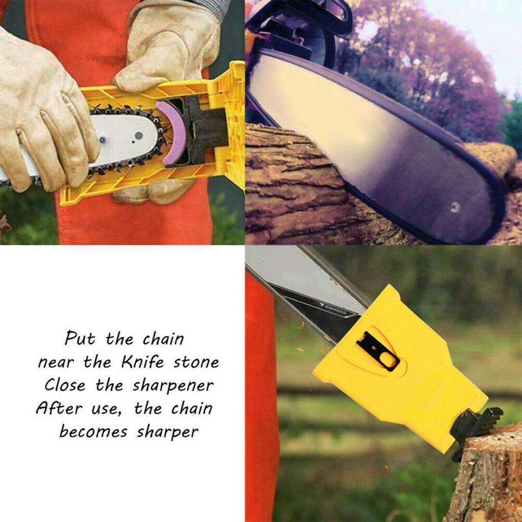 Stein Schleifstein Schleifen Tragbar 3Pcs Holzbearbeitung Kettensäge Zahn