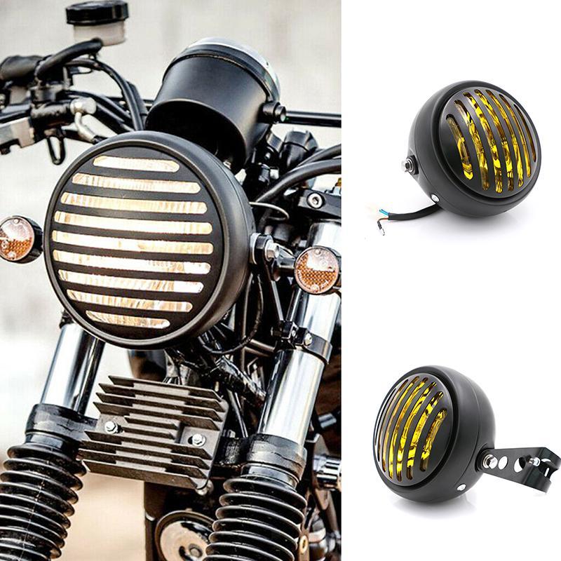 6.5 Halogen Motorcycle Headlight Clear Vintage Cafe Racer Bobber Chopper