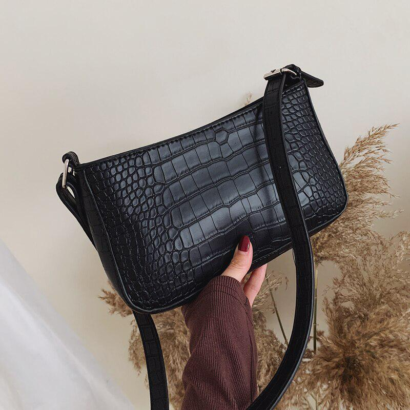 Women Retro Alligator Leather Messenger Shoulder Bag Mini Chain Crossbody Totes