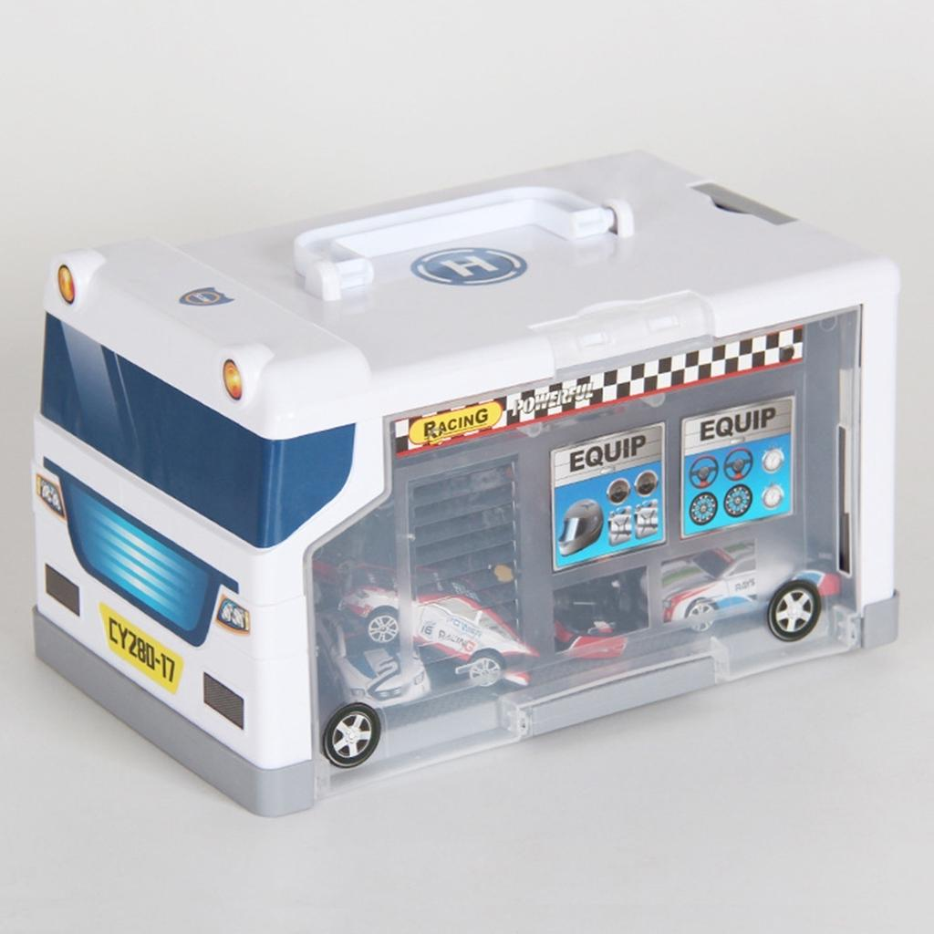 Car Parking Storage Box With 15 Cars Garage Car Model Toys For Christmas Gift US