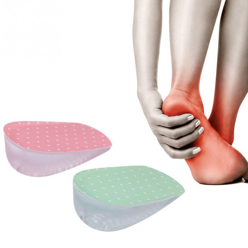 Pair Semelle Silicone Chaussures Intérieur Talon Talonnette Orthèse Orthopédique
