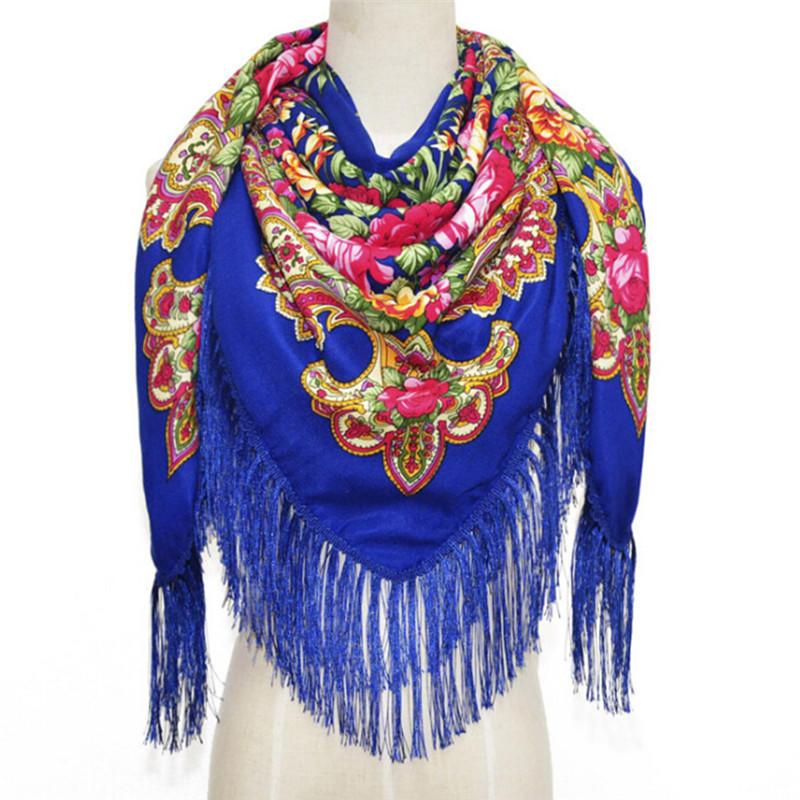 c22bb0eb0781 Lovely Fashion femmes foulards carré foulard châle coton épais gland ...