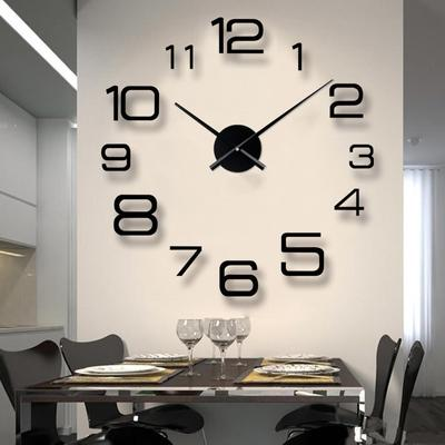 Hot Unique Acrylic Clock Creative Large 3D DIY Wall Clock Modern Wall Art Home Decorations