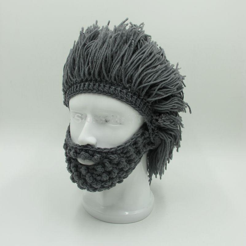 Sombreros de moda peluca barba Hobo Jogg Rasta cavernícola a mano ...