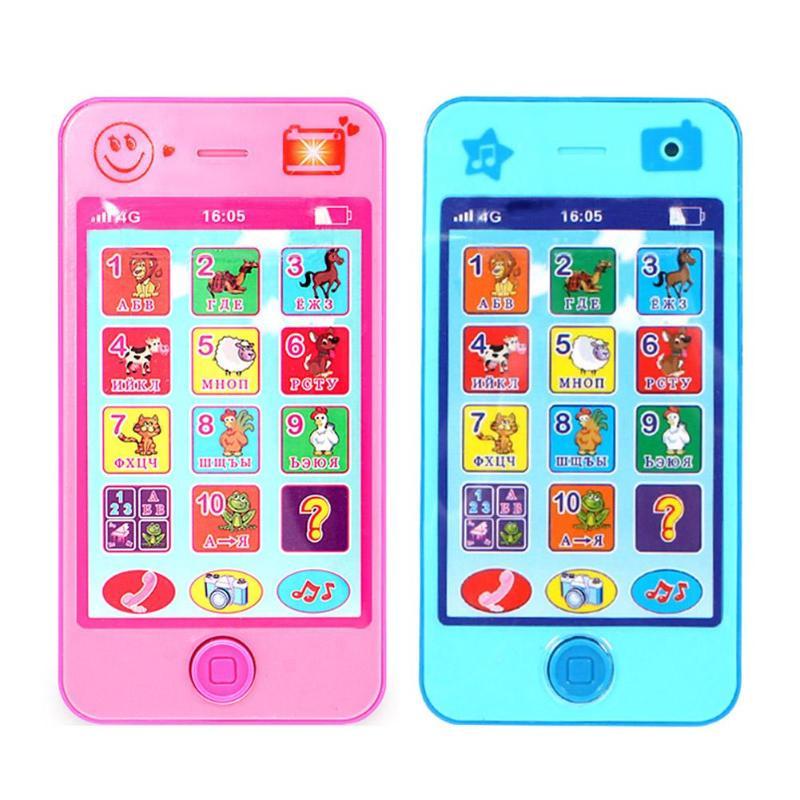 Игрушечный развивающий телефон на русском языке для детей фото