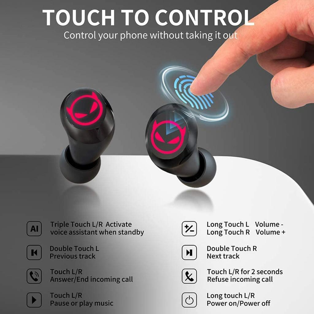 BBy Wireless Little Devil Headset With Built in Microphone High definition  Voice Call Noise Reduction IPX20 Waterproof Headset buy at a low prices on  ...