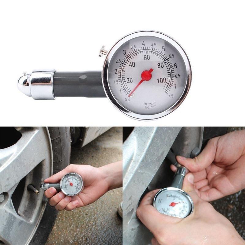 Tire Pressure Gauge Pencil Tyre Air Pressure Test Meter Pen Style 0-50 PSI
