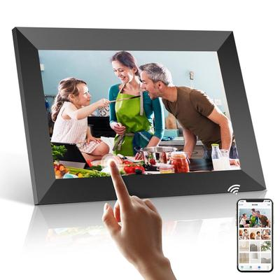 WiFi Digital Picture Frame 10.1 Inch, PODOOR Digital Photo Frame IPS Touch Screen HD 1080P with 16 GB Memory, Automatic Rotation, iOS and Android App