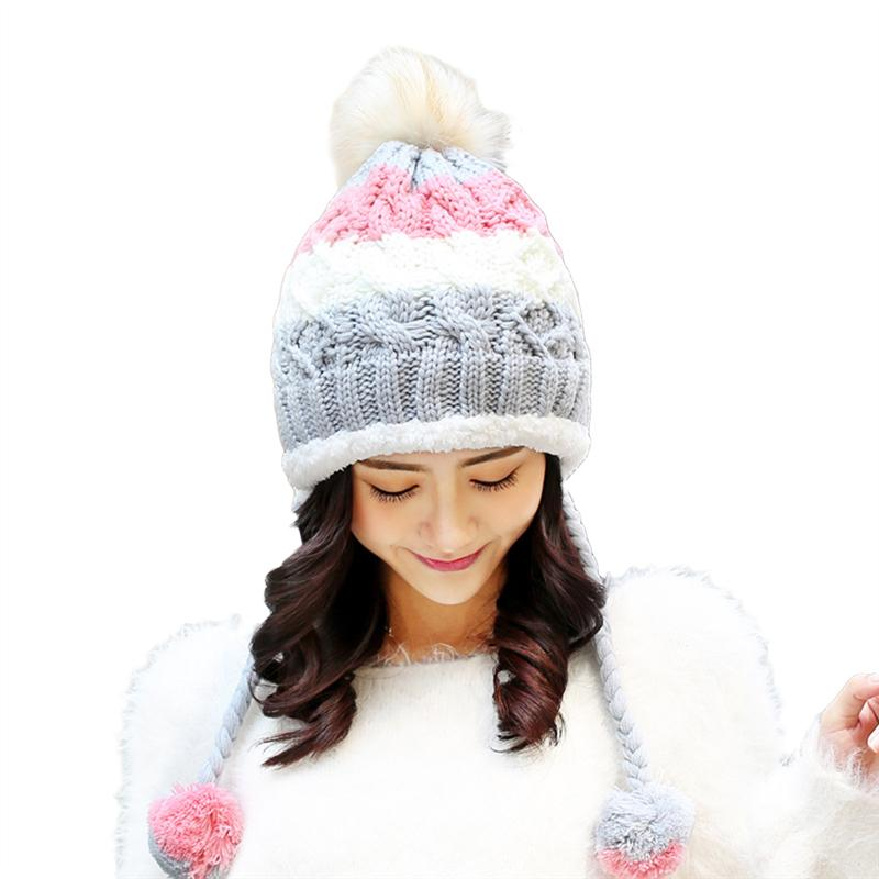 9f560d039542b Women Winter Hats Warm Fashionable Knit Beanie Cap Hat Warm for Women Girls  (Grey)-buy at a low prices on Joom e-commerce platform