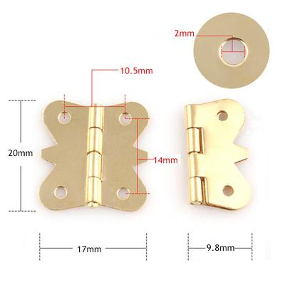 10x Brass Color Mini Butterfly Hinges to Cabinet Drawer Jewelry Box DIY RepairFB