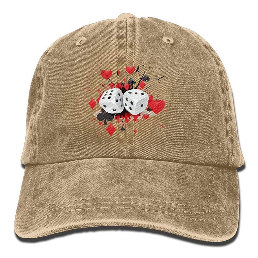 Dados del dril de algodón gorras sombrero ajustable algodón Sport correa  gorra 4a4b8d35988