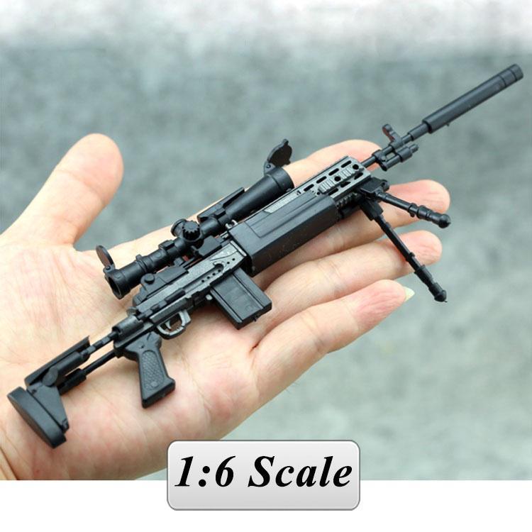 """1//6 SCALA MK14 modalità FUCILE di precisione per 12/"""" Action Figure Pistola modello arma soldato"""