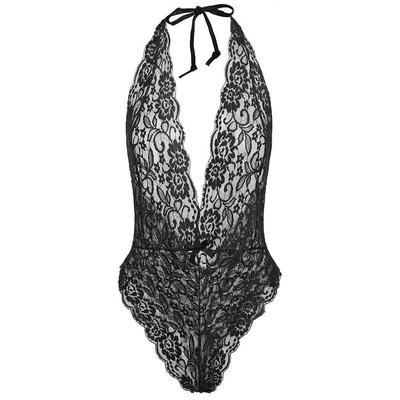 5023dbfa29ba2 Женщины сексуальный недоуздок кружевом прозрачная сетка белье ночь боди