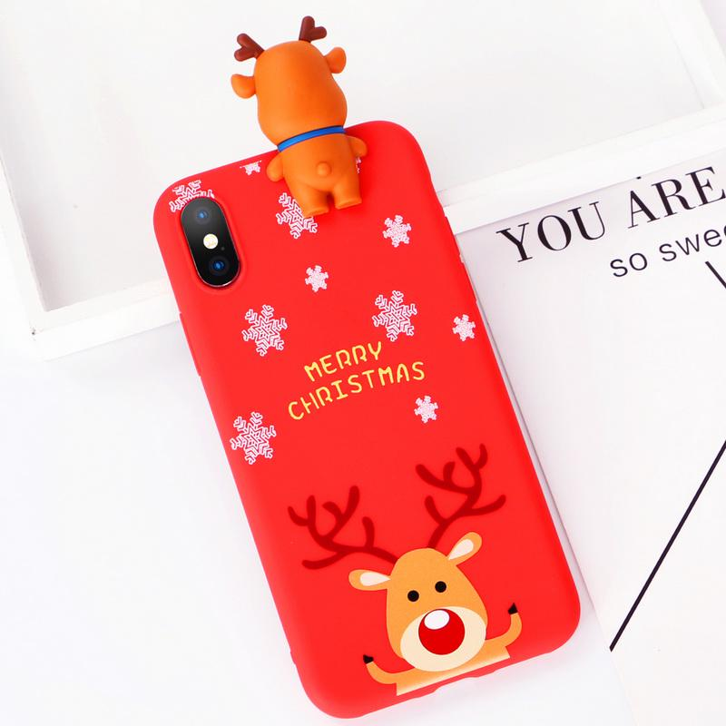 Christmas Phone Case Exquisite Cartoon Design Protect Cover Coque For iPhone 11 Pro Max XS XR 8 7 6