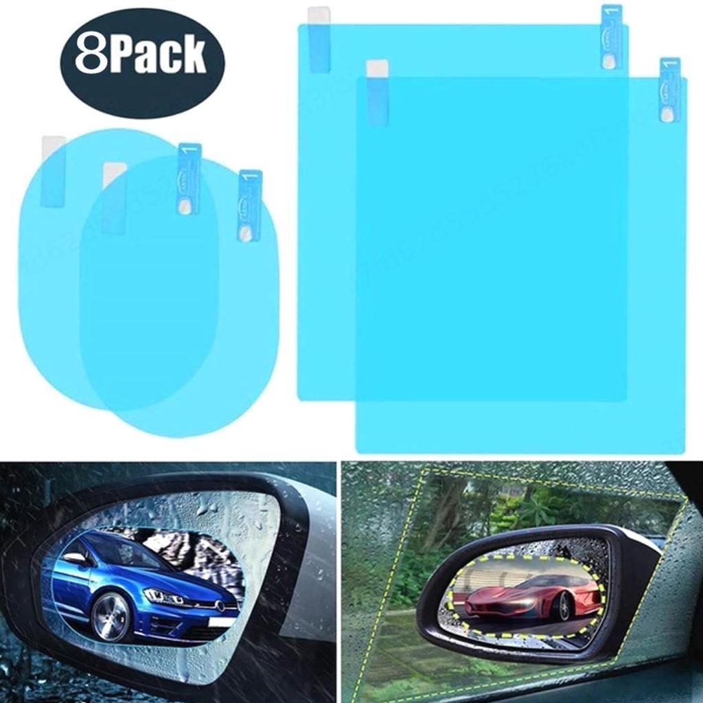 4x Car Anti Fog Anti-glare Rainproof Rearview Mirror Trim Film Cover Accessories