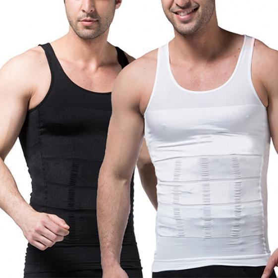 140c46f033d Men s Slimming Body Shaper Waist Training Corset Tank Top Vest ...