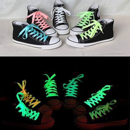 <b>1 Pair Sport</b> Shoes Lace Polyester Neon Color <b>Luminous</b> ...