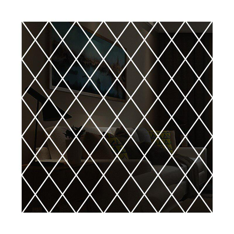 Wall Stickers Mirror Decorative Diamonds Triangles Acrylic for Art DIY 3D IT