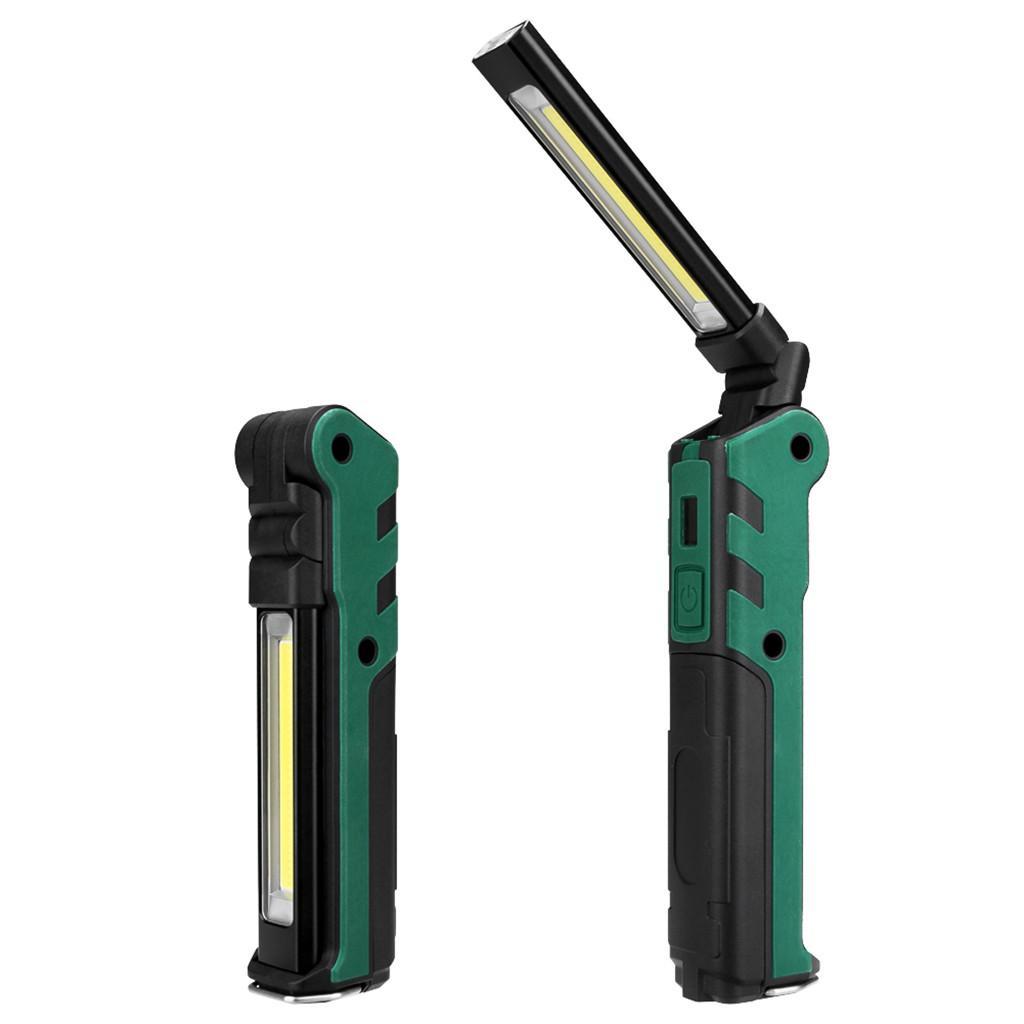 Flashlight Rechargeable COB LED Slim Work Light Lamp Multifunction Folding Torch
