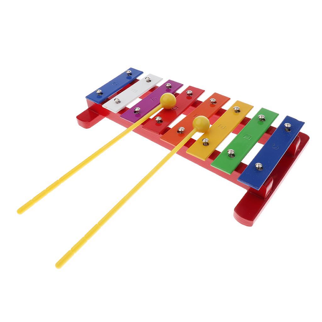Xilofon De 8 Tonuri Colorate Cu Ciocane Pentru Educaţie De învăţare Muzical Copii
