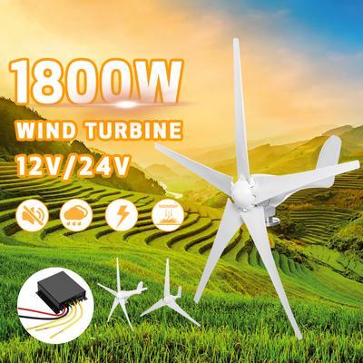 500W Wind Turbine Generator Kit DC 12V/24V 5 Blade+Windmill
