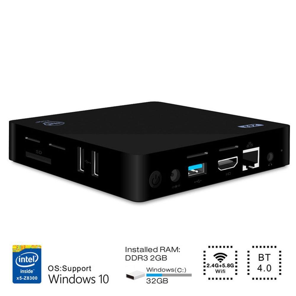Mini pc mini pc intel atom x5-z8350 quad core windows 10 64bit 2 4G 5 8G  wifi