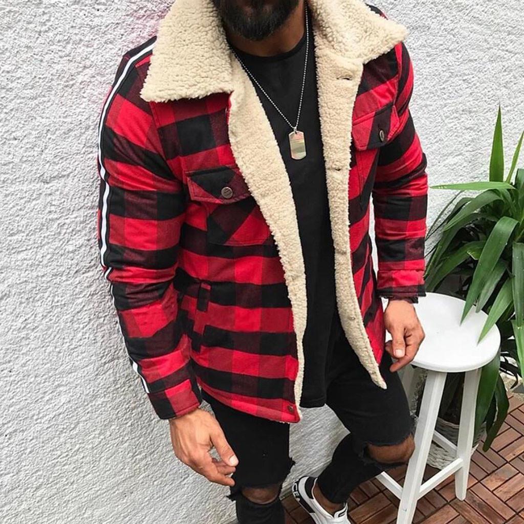 Модный мужской кардиган в клетку, повседневная блузка, плюшевые топы, пальто – купить по низким ценам в интернет-магазине Joom