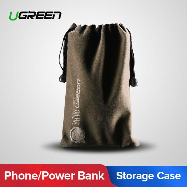 Ugreen Power Bank Дело Телефон Сумка для iPhone Samsung Xiaomi Huawei водонепроницаемый Powerbank Хранения сумки Мобильный телефон Аксессуары