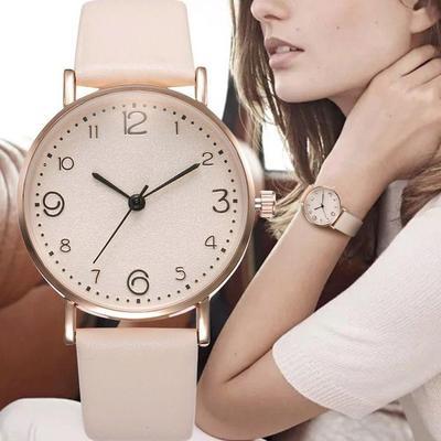Wrist Watch  Exquisite Ladies Dress Beige Simple Lock AnalogWatches Relogio Feminino Montre Femme