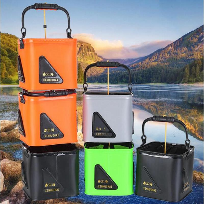 Details about  /Folding Water Bucket Camping Kitchen Fishing Barrels Collapsible Travel Portable