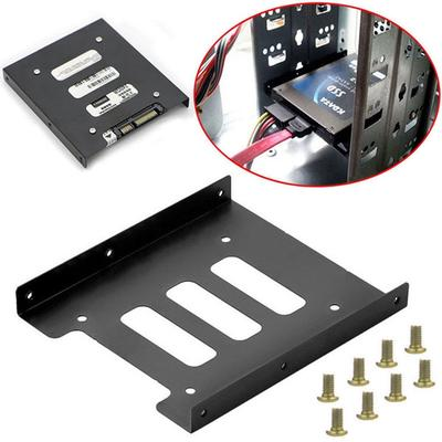 """2X 2.5/"""" to 3.5/"""" SSD HDD Metal Adapter Mounting Bracket Hard Drive Holder For PC"""