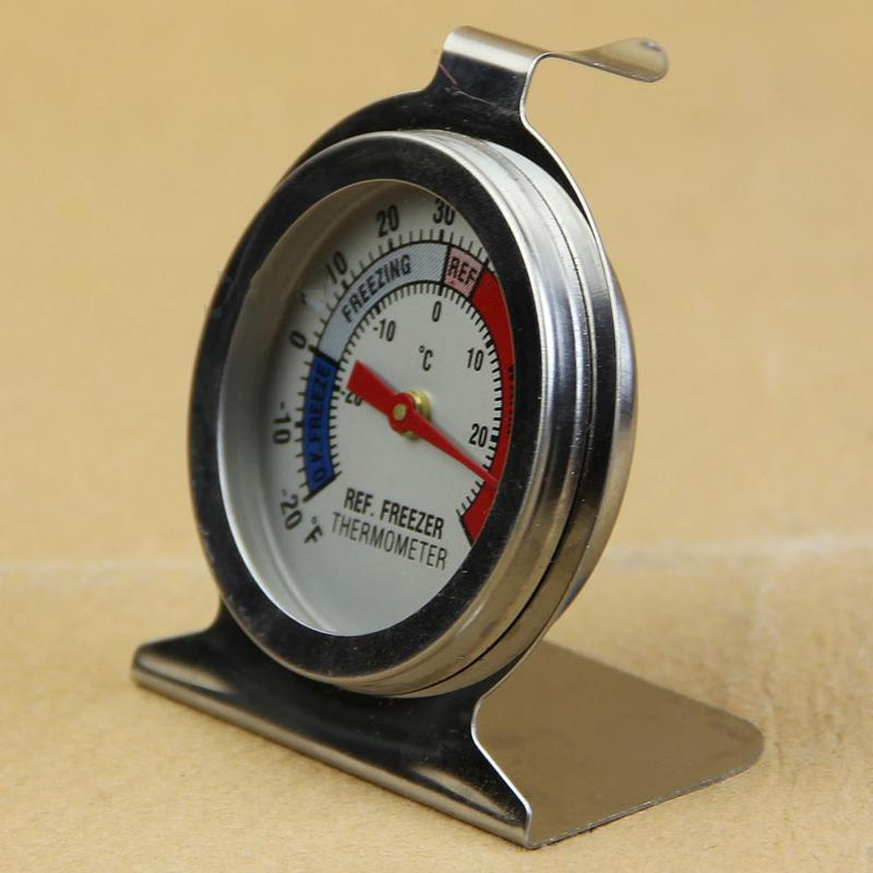 Home Stainless Steel Pro Refrigerator Freezer Thermometer Fridge DI Type Stander