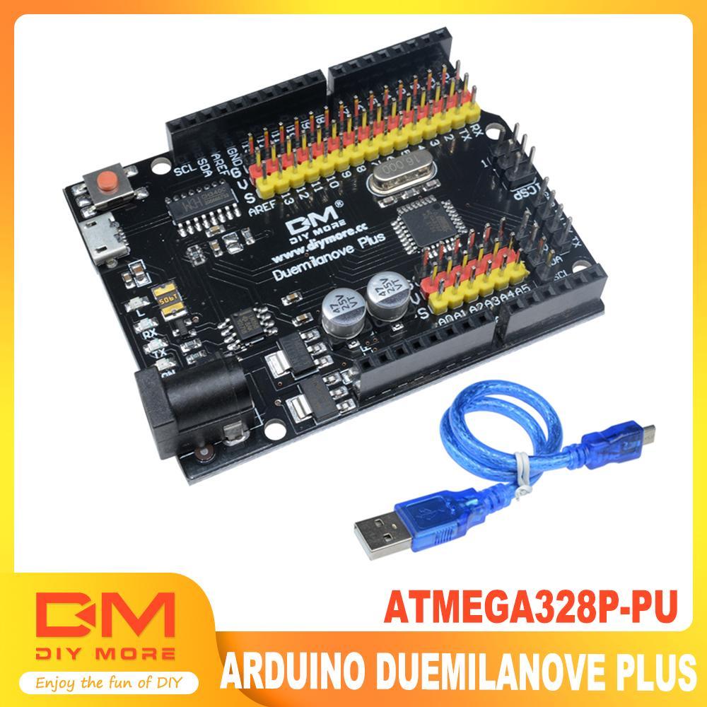 Duemilanove USB Board 2009 ATMega 328P-PU microcontrôleur Compatible avec Arduino