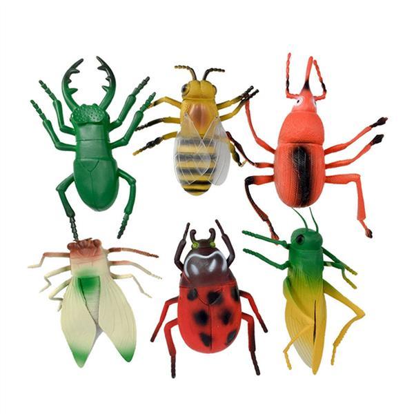 10 Pcs Mini Beetle Insect Animal Clockwork Pull Back Car Toys Kids Baby Gift